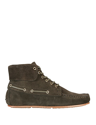 Jerome Dreyfuss Lace-Up Suede Flat Moccasins