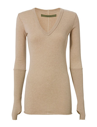 V-Neck with Thumbholes