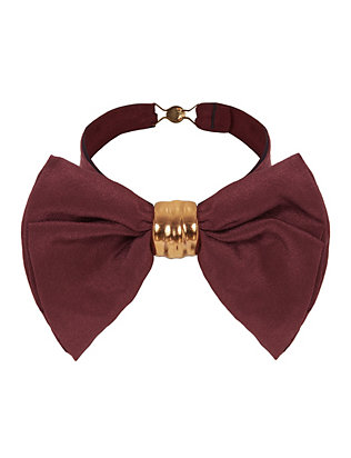 Solid Bow Tie: Burgundy