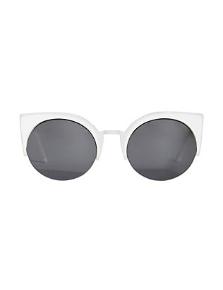 SUPER Sunglasses Lucia Francis Metric Sunglasses: White