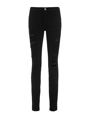 Le Color Rip Noir Skinny Jeans