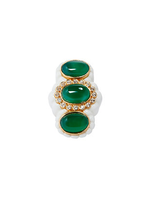 Angelique de Paris Conch Triple Emerald Stone Ring