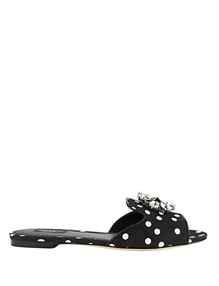 Crystal Open-toed Flat Sandals