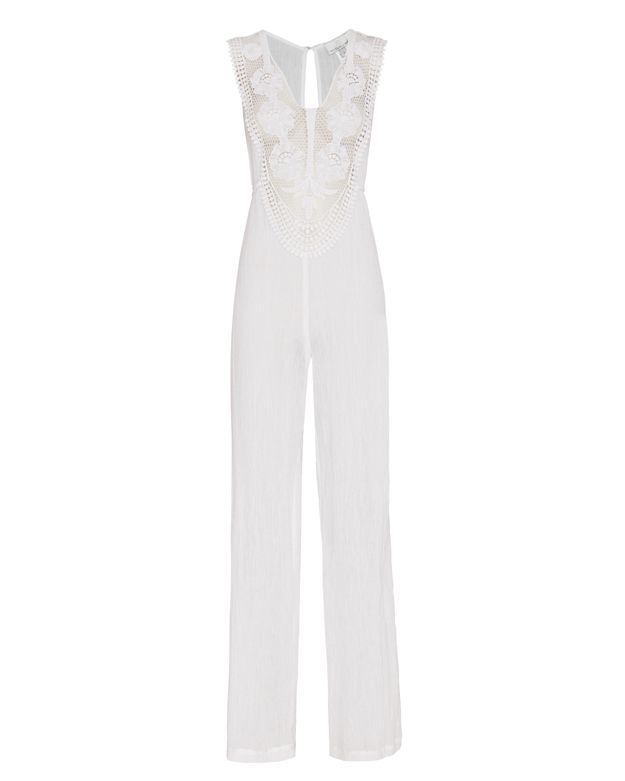 Miguelina Embroidered Gauze Jumpsuit