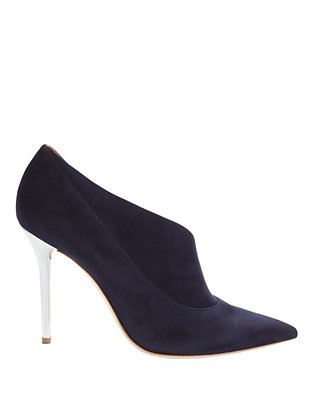 Malone Souliers Crystal D'Orsay Suede Pump