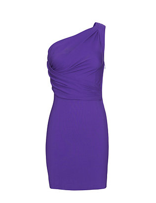 DSQUARED2 One Shoulder Dress: Purple