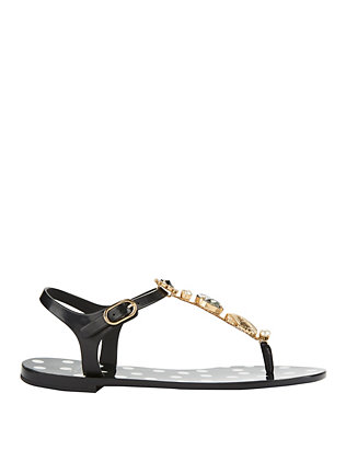 Dolce & Gabbana Crystal Thong Beachwear Sandals