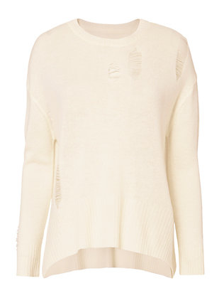 Enza Costa Loose Drop Stitch Sweater