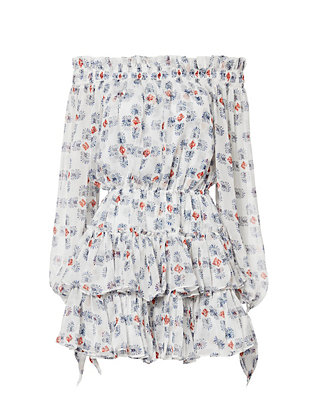 Caroline Constas Lou Off-The-Shoulder Printed Dress
