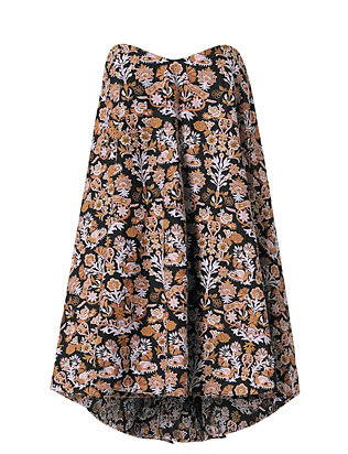 Caroline Constas Embroidered Bustier Dress