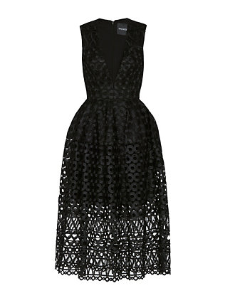 Nicholas Midi Ball Lace Dress