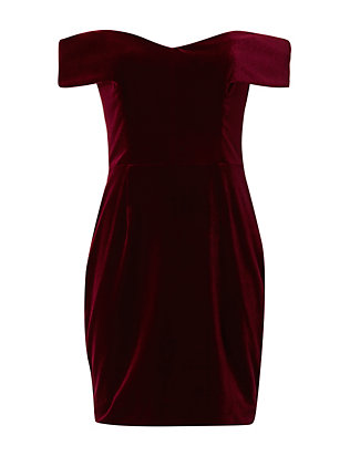 Nicholas Off-The-Shoulder Velvet Dress