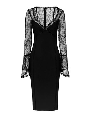 Nicholas Lace Bell Dress