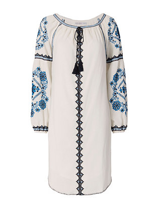 Chelsea Flower EXCLUSIVE Embroidery Caftan Dress