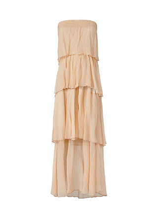 Love Sam Tiered Strapless Maxi Dress