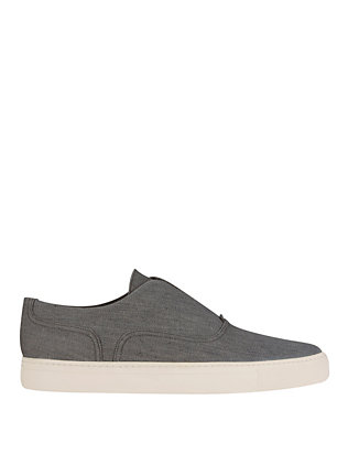 Vince Nelson Slip On Sneaker: Grey Denim