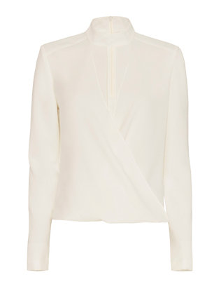 Exclusive for Intermix Kai Georgette Top: Ivory