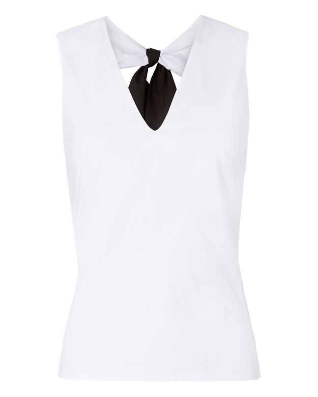 Exclusive for Intermix Kay Bow Tie Back Sleeveless Shirt
