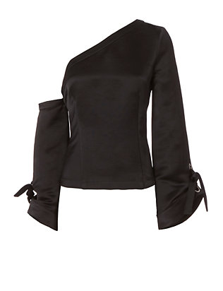 Exclusive for Intermix Verona One Shoulder Grommet Detail Top