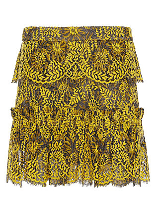 Exclusive for Intermix Sitka Flounce Mini Lace Skirt