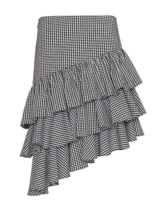 Exclusive for Intermix Marion Ruffle Gingham Skirt