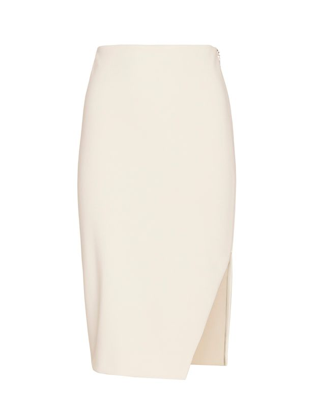 Exclusive for Intermix Laura Zip Pencil Skirt: White