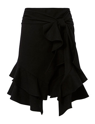 Exclusive for Intermix Erika Tie Ruffle Skirt