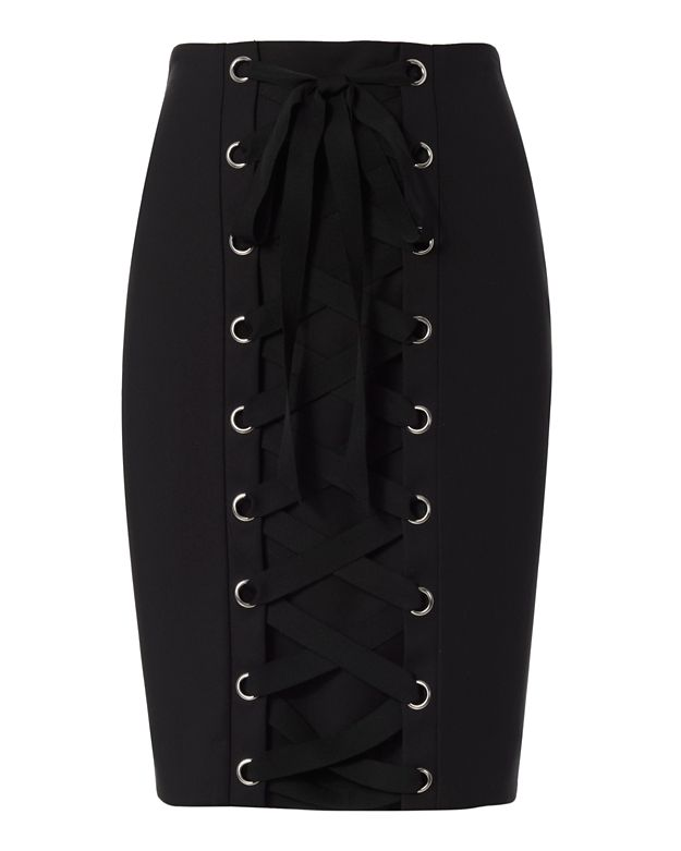 Exclusive for Intermix Gracie Lace-Up Pencil Skirt