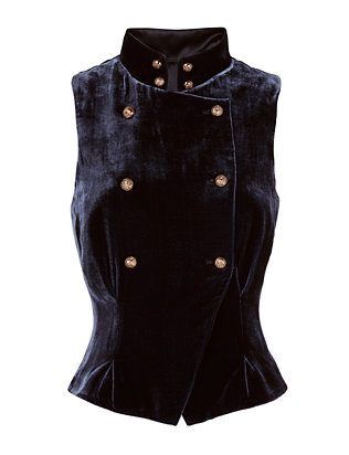 Exclusive for Intermix Torrie Velvet Vest