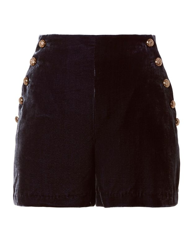 Exclusive for Intermix Alex Velvet Shorts