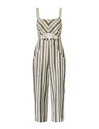 Christy Striped Culotte Jumpsuit