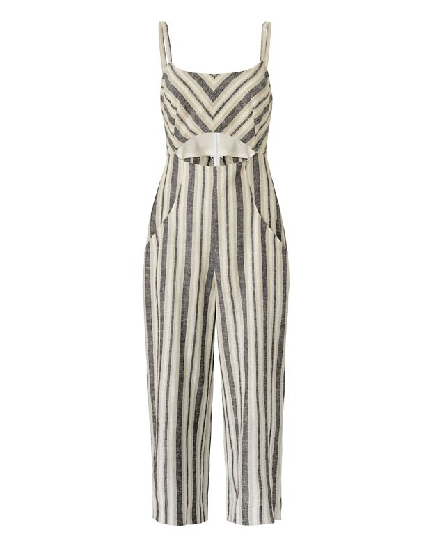 Exclusive for Intermix Christy Striped Culotte Jumpsuit