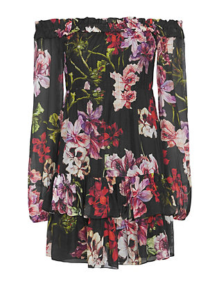 Exclusive for Intermix Knightly Floral Dress: Black