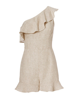 Exclusive for Intermix Ossa One Shoulder Striped Romper