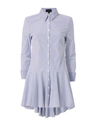 Exclusive for Intermix Bevin Poplin Ruffle Stripe Dress