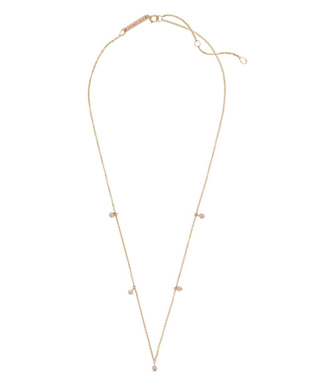 Zoe Chicco Bezel Station Necklace