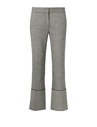 Plaid Wide Cuff Trousers