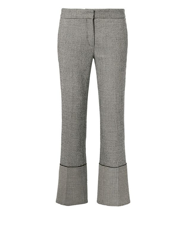 Derek Lam Plaid Wide Cuff Trouser