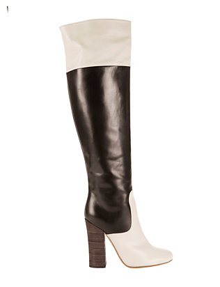 Colorblock Knee High Boots