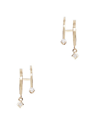Zoe Chicco Double Huggie Hoop Earrings