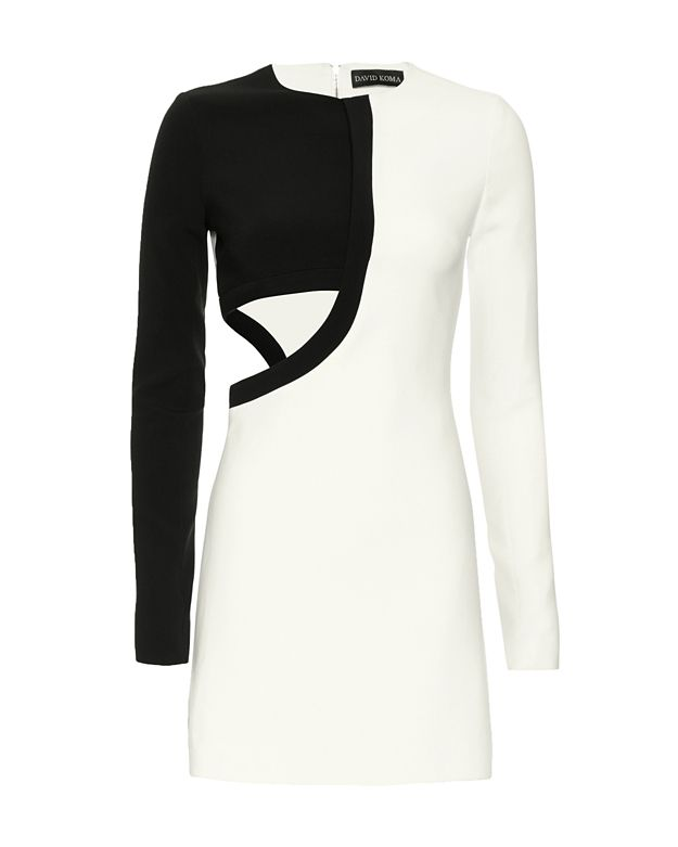 David Koma Cut Out Asymmetric Dress
