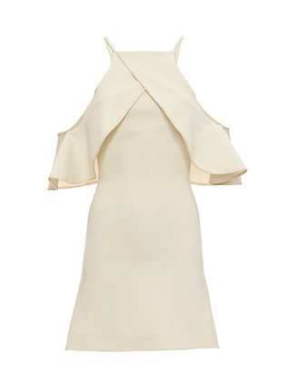 David Koma Ruffle Shoulder Dress