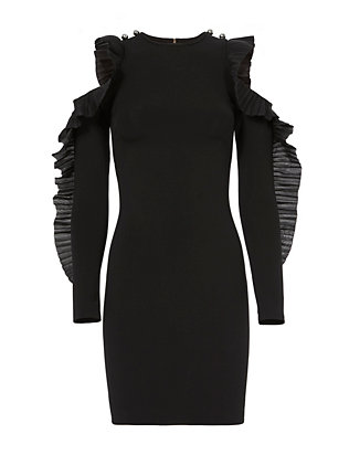 David Koma Ruffled Sleeve Dress