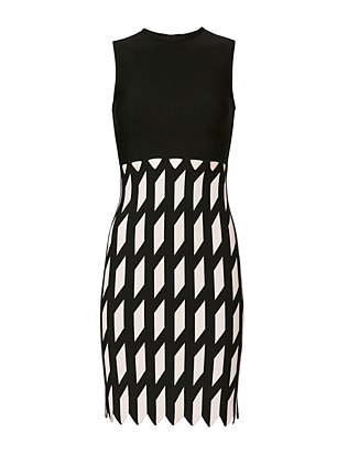 Zigzag Pattern Knit Dress