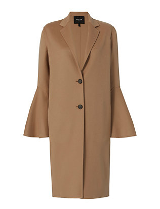 Bell Sleeve Coat: Camel