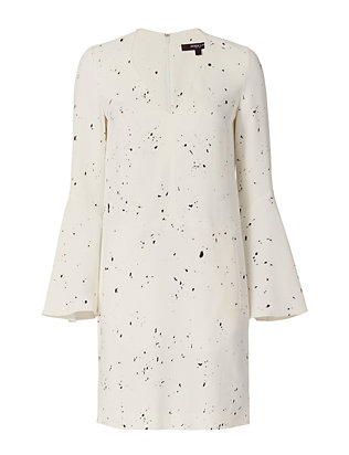 Bell Sleeve Drip Dot Pattern Dress
