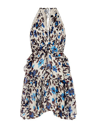 Thakoon Pleated Print Dress