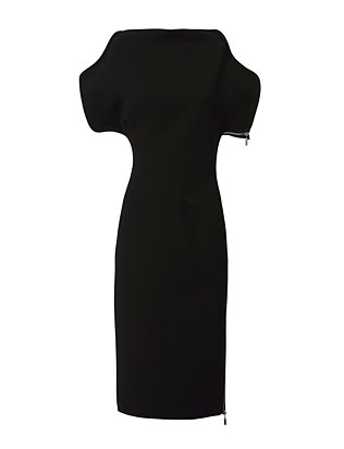 Nero Cap Sleeve Sheath Dress