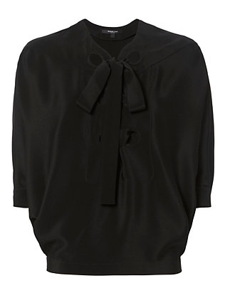 Derek Lam Batwing Lace-Up Blouse