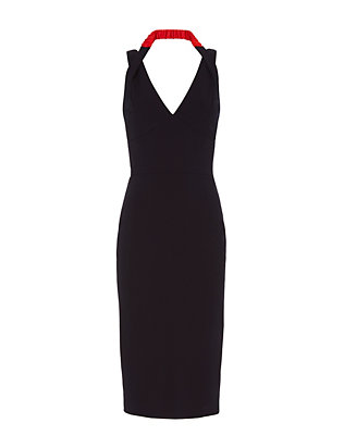 Victoria Beckham Fitted Halter Dress